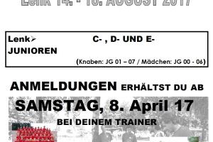 Anmeldung: Juniorenlager 2017 in Lenk